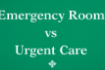 emergency room verses urgent care